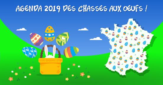 Agenda 2019 des chasses aux oeufs en France